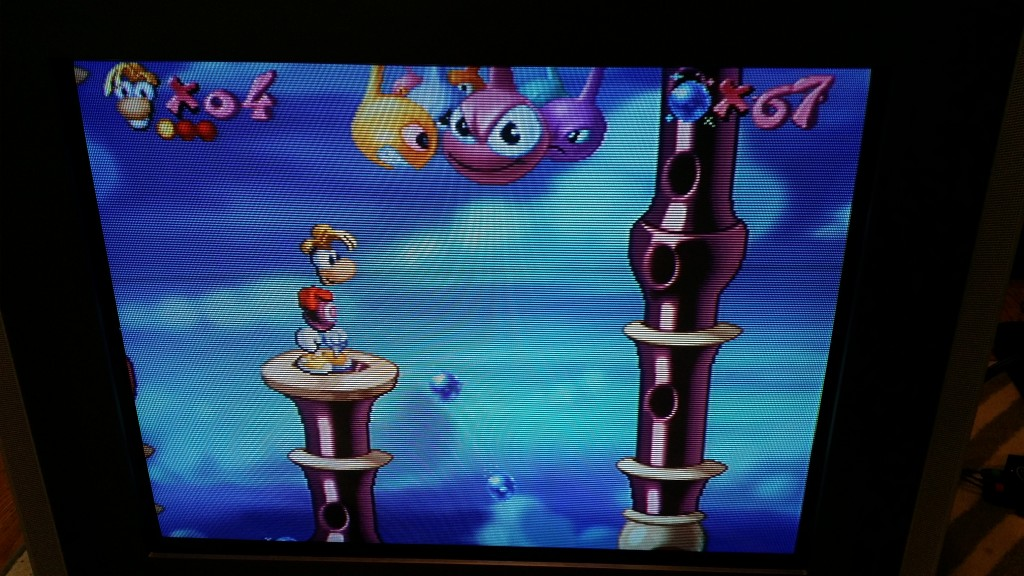 Saturn is a powerhouse for 2D games. Rayman never looked so good.